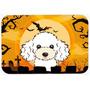 Dia Das Bruxas Branco Poodle Cozinha Ou Banho Mat 24x36 Bb18