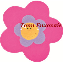 Tapete Infantil Menina Flor Pink 74cm Pelúcia Antialérgica