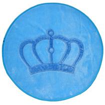 Tapete Coroa Provençal Azul Claro 1,25m Pelúcia Antialérgico