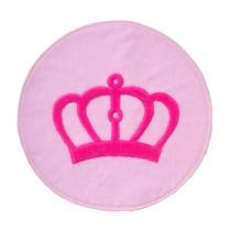 Tapete Coroa Provençal Rosa Pink 1,25m Pelúcia Antialérgico