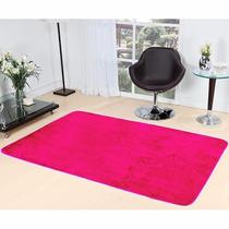 Tapete Para Sala E Quarto 1,00m X 1,33cm Cor Pink De Pelucia