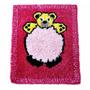 Tapete Infantil Pompom Personagem Urso Rosa Antilalergico