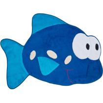 Tapete P/ Quarto Infantil Em Pelúcia Peixe Azul Royal