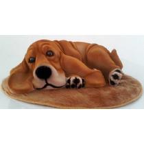 Cachorro Bassê (g) Decorativo Com Tapete- Cachorro - Cão