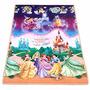 Tapete Linha Recreio Princesas Disney, Enrolado Super Leve.