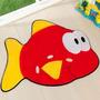 Tapete Infantil Formato Peixe Vermelho 66x92cm - Guga Tape