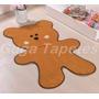 Tapete Infantil Em Pelúcia Formato Ursinho Biscoito Caramelo