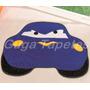 Tapete Infantil De Pelúcia Formato Carro Furioso Azul Royal