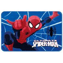 Tapete Infantil Jolitex Spider Man Teia 80x120cm Azul!