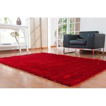 Tapete Silk Shaggy Pelo Alto(4 Cm) 100x140cm Vermelho-niazi
