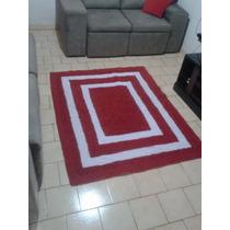 Tapetão Para Sala E Quarto 1,50x1,20 Em Frufru - Vermelho