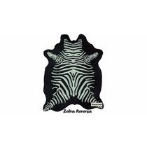 Pele Natural De Couro - Serigrafia Zebra Reversa