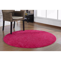 Tapete Redondo Quarto E Sala Classic 1,50 X 1,50 - Cor Pink