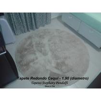 Tapete Muito Peludo Redondo 4cm Shaggy Luxo Diametro 1,90m