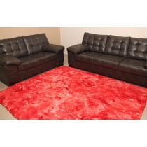 Tapetes De Sala Peludo Felpudo Vermelho Mesclado 2,00 X 2,50