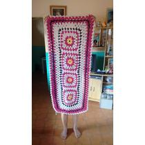 Tapete De Barbante Crochê - Artesanal Sala Cozinha Banheiro