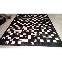 Tapetes De Couro Preto E Branco 2,00x2,50 ( Pronta Entrega )