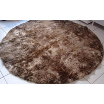 Tapete Muito Peludo Redondo Shaggy Luxo Diametro 1,80m