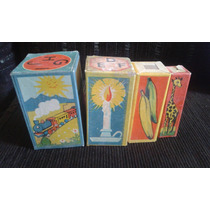 Brinquedo Antigo Cubinhos De Brincar Figuras E Letras