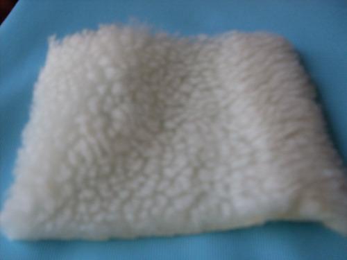 Tecido Carapinha Lã De Ovelha Sintética Branca Em Metro