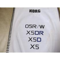 Manual De Instruções Teclado Korg 05r/w X5dr X5d X5 Portugue