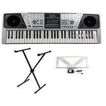 Teclado Piano Musical Sons Eletronicos Keyblack Kb 223 Lcd
