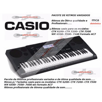 Ritmos Teclados Casio Modelos Ctk 6200- Ctk 7200 Ctk7500