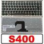 Teclado Ultrabook Lenovo S400 S300 Preto Com Frame Cinza Br