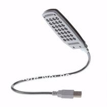 Luminária Led Usb Flexível Notebook Abajur 28 Leds