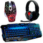 Kit Gamer Teclado Abnt2 Luminoso + Mouse 3200 + Fone Headset