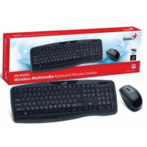 Teclado E Mouse Wireless 1200dpi Genius Kb-8000x Usb 2.4ghz