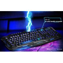 Teclado Usb Gamer Retro Ilumiado 3 Cores M200 20379