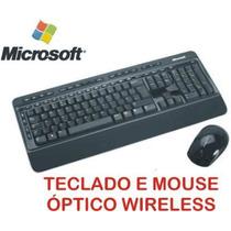 § Kit Teclado E Mouse Optico Microsoft Wireless Desktop 3000