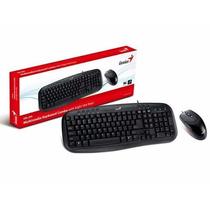 Kit Teclado E Mouse Genius Km-200 Usb Teclado Multimidia