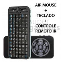 Mini Teclado Wireless Rf Air Mouse E Controle Remoto Ri