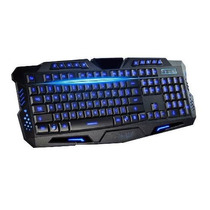 Teclado Gamer Iluminado Led Usb Multimídia Fio Pc Notebook