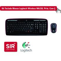 Kit Teclado E Mouse Logitech Wireless Mk330, Pt-br, Com Ç