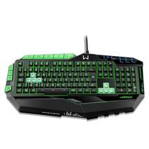Teclado Multilaser Gamer Preto E Verde Com Led Usb - Tc199