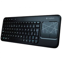 Teclado Logitech K400 Smart Tv Sem Fio Com Mouse Touch Pad