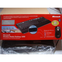 Teclado + Mouse Wireless Media Desktop 1000 Microsoft