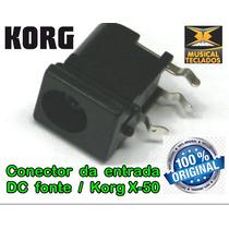 Conector Plug Entrada Femea Fonte Teclado X-50 Korg Original