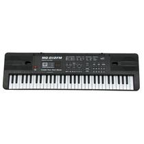 Teclado Piano Musical Infantil Sons Eletronicos Radio Mq 012