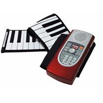 Teclado Musical De Rolo 61 Teclas-midi-hand Roll Piano C/bag