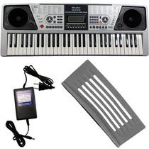 Teclado Musical Barato Key Black Kb223 61 Teclas C/ Fonte