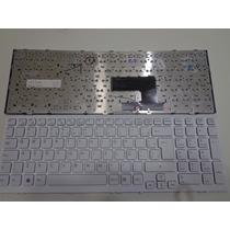 Teclado Notebook Sony Vaio Vpc-ee Vpc-eh Branco Com Frame