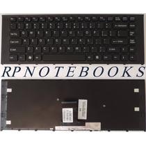 Teclado Notebook Sony Vpc Ea Series Com Molduta Us