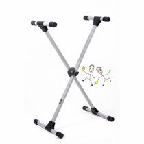 Suporte Pedestal Metálico Em X Para Teclado Ask Si99