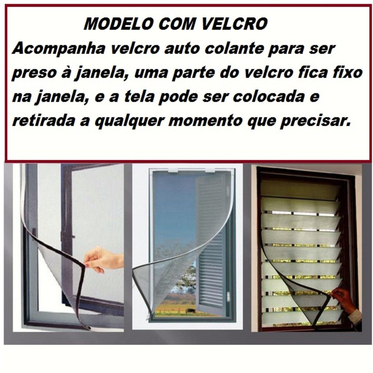 #741C24 Tela De Janela Protetora Contra Insetos E Mosquito Da Dengue R$ 26  1480 Telas De Proteção Contra Insetos Para Janelas