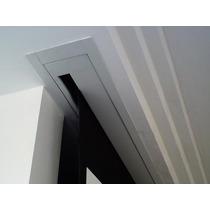 Moldura Tela Projeção 92 Wide Ou 100 4x3 Branca Em Aço