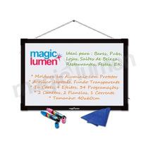 Painel Luminoso Quadro Led Neon Transparente Pra Bares Lojas